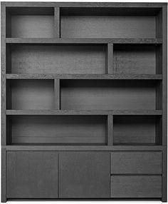 Living Room Built Ins, Living Room Sofa Design, Office Furniture Design, New Furniture, Shelf Inspiration, Bookshelves Built In, Bookcases, Small Home Offices, Fireplace Built Ins
