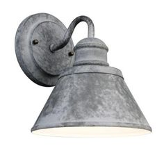 Love these for in the house! $20 Hampton Bay 1-Light Outdoor Zinc Wall Lantern-HSP1691A at The Home Depot