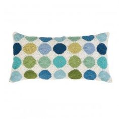 Crocheted Pillow Dots Blue from le souk.