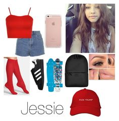 """Hey -Jessie"" by dyasiarocks2000 ❤ liked on Polyvore featuring Topshop, WearAll, Nordstrom, adidas and Rains"
