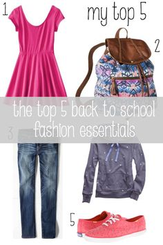 The top 5 back to school fashion essentials + enter to win up to $2500 in the @coupons back to school sweepstakes!