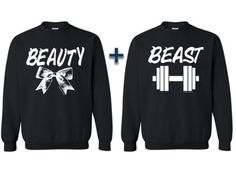 Couple-Matching-CREWNECK-Sweater-Beauty-And-The-Beast-Couple-T-shirt-Sweatshirt