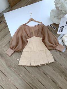 Kpop Fashion Outfits, Girls Fashion Clothes, Korean Outfits, Fashion Dresses, Kawaii Fashion, Cute Fashion, Cute Casual Outfits, Stylish Outfits, Korean Girl Fashion