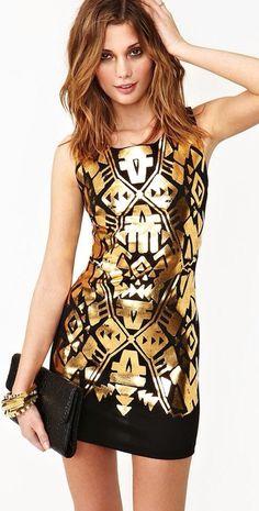 Golden Touch Dress |= (DATE NIGHT)