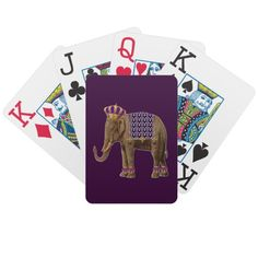 Prince Elbert of Elephantia Deck Of Cards.  Just one of many playing card decks featuring my artwork and photography.