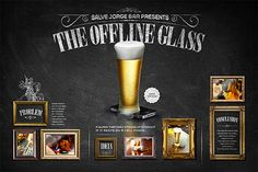 offline glass/Makes you put down your phone and talk!