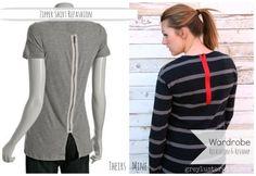 DIY Faux Zipper Shirt