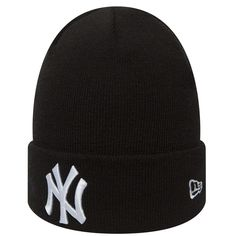 5d58ab115a7 New Era NY Yankees League Essential Beanie - Black   White