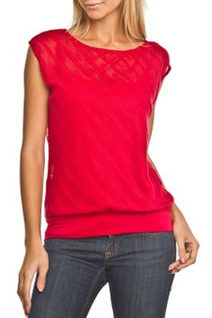 Wrapper Textured Top in Red - Beyond the Rack