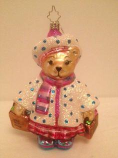 Muffy Little Brown Bag Bloomies Shopper Bear Ornament