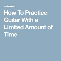 Learn how to practice guitar when you have little time to practice. This guitar practicing article contains several secrets that the pros use. Teach Yourself Guitar, Guitar Tutorial, Music Theory, Guitar Chords, Teaching, Guitars, Guitar Chord, Education, Guitar