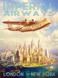 Imperial Airways Stampa artistica