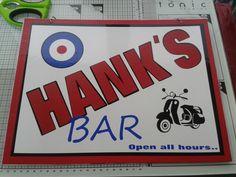 Vinyl bar sign