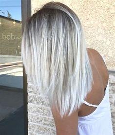 Silver Blonde Hair, Icy Blonde, Platinum Blonde Hair, Blonde Ends, Ombré Blond, Black Hair, Gray Hair, White Hair, Short Blonde
