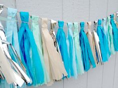 Beach Day - Tissue Paper Tassel Garland - Wedding - Party - Baby Shower via Etsy