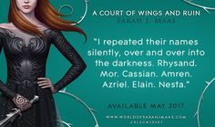 Pre-order. A Court of Wings and Ruin (A Court of Thorns and Roses) – May 2, 2017. http://amzn.to/2m69Svu #Books #Fantasy #ACOTR_series