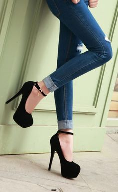 Classic Round Baby Doll Platform pumps with cute ankle straps.  I love these shoes for casual wear.