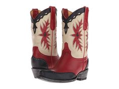 Old Gringo Miesha Inlay Western Boot leather red/bone/blue, bblack/turquoise 10sh 1.25h sz7.5 290.00 2/16