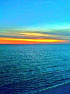 Sunset, Panama City Beach, Florida, USA  by Roger Coston