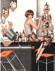 La Vie Parisienne Magazine plate Image Courtesy of The Advertising Archives: http://www.advertisingarchives.co.uk