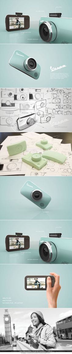 vespa camera - product design project   Raddest Men's Fashion Looks On The Internet: http://www.raddestlooks.org