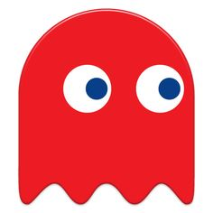 Free download - Pacman Red Ghost transparent PNG image, clipart picture with no background - games, pac man.