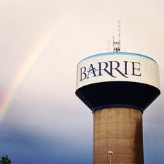 And all this time we thought there was a #PotOfGold at the end of a #rainbow! Should have known it was #Barrie all along... #VisitBarrie #getoutandplay #watertower #SomewhereOverTheRainbow