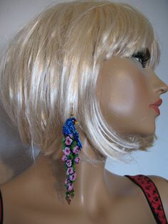",,Blue bird',Delica beads-11,Swarovski 4....,,lena-style..."""