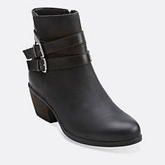 63de11036 Gelata Fresca Black Nubuck Clarks Boots