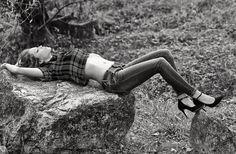 Greta for Hope Fashion shooting black and white