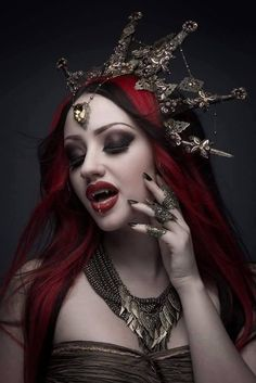 Model: Dani Divine photo: Scott Chalmers Photography Headpiece: Fairytas - Fangs: Father Sebastiaan For Gothic and Amazing magazine issue don't miss the interview and make sure to get your printed or digital copy here. Vampire Love, Gothic Vampire, Vampire Art, Dark Gothic, Gothic Art, Vampire Pics, Vampire Pictures, Gothic Pictures, Vampire Queen