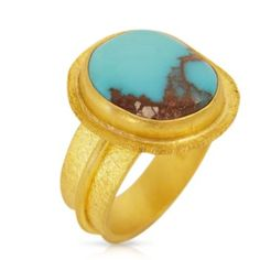 Turquoise & Gold Ring - Colored Gemstones - Jewelry - Fairchild & Co.