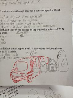 His Students Doodled On Their Tests, So This Science Teacher Decided To Add His Own Too