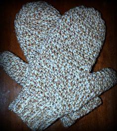 Daddy's Simply Easy Mittens - Free Crochet Pattern • Oombawka Design Crochet