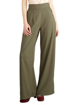 Every Opportunity Pants in Olive | Mod Retro Vintage Pants | ModCloth.com