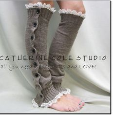 http://wanelo.com/p/5064407/sale-smokey-mocha-heather-button-down-venise-lace-edged-leg-warmers-women-great-with-or-without-boots-catherine-cole-studio-legwarmers