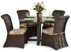 Formale Korbweide Terrasse Tisch und 4 Stühle