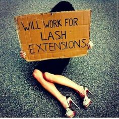 The struggle is real! Have you scheduled your next lash appointment yet? #EyelashExtensions prettydollfaced.com