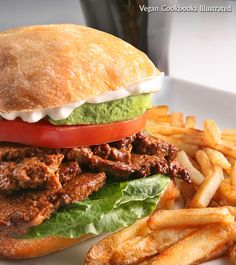 #Vegan 'Steak' Sandwich from the cookbook Vegan Sandwiches Save the Day