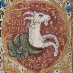 Zodiac sign of CAPRICORN in a century manuscript (by Virtual Manuscript Library of Switzerland); Capricorn Rising, Capricorn Tattoo, Capricorn Quotes, Zodiac Capricorn, Tarot, Zodiac Sign Traits, Zodiac Signs, Zodiac Art, Dragons