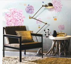 3D Cute Panda 479 Wall Murals | AJ Wallpaper Kids Room Wallpaper, Paper Wallpaper, Self Adhesive Wallpaper, Custom Wallpaper, Custom Wall Murals, 3d Wall Murals, Balloon Wall, Balloons, Cartoon Flowers