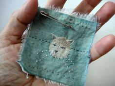 The Cat in the Moon, spirit cloth.