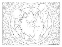 Primeape Pokemon 057 Coloring PagesKids