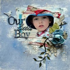 """Flourish With A Bling » Blog Archive » """"Our Little Boy"""" LO by Evgenia Sokolinskaya"""