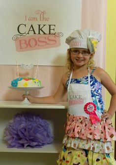 Cake Boss party! What a super cute idea! Has some awesome tutorials too for DIY projects!