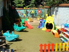 Encouraging Play Encourages a Child's Development – Playground Fun For Kids Outdoor Play Areas, Outdoor Fun, Backyard Playground, Playground Ideas, Fun Backyard, Kids Daycare, Daycare Ideas, Casa Patio, Play Yard