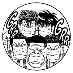 'Mad Shohoku' by Hizodesign Old Anime, Manga Anime, Framed Prints, Canvas Prints, Art Prints, Slam Dunk Manga, Anime Stickers, Manga Pages, Comic Panels