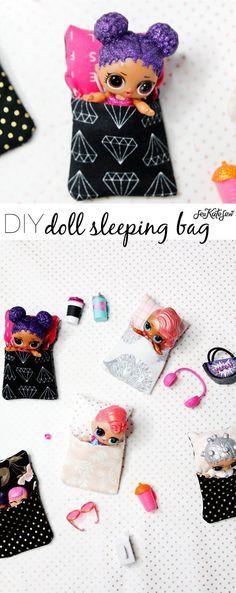 Doll Sleeping Bag Tutorial   diy sewing   diy kids toys   diy doll accessories    See Kate Sew #dolls #kidstoys #diy #diytoys #dollaccessories