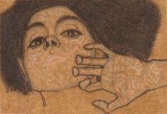 'head of a woman' by egon schiele (1908)