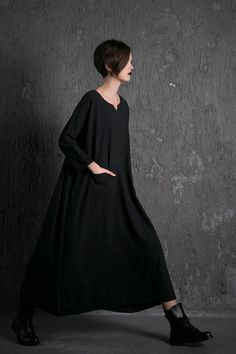 2015 New linen dress Black dress Maxi Dress casual door YL1dress